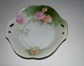 R S Prussia  Tillowitz bowl with handles German porcelain  hand painted porcelain