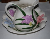 large pitcher and bowl, pitcher and basin handmade pitcher set