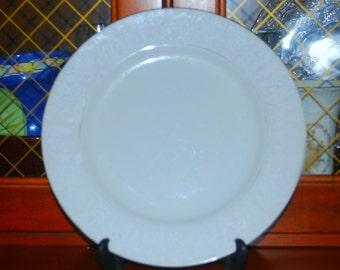 two lovelace white on white dinner plates