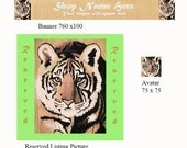 Etsy Banner Tiger Art Avatar Reserved listing Picture