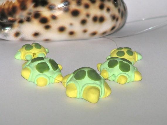 Turtle Beads  Handmade Beads Polymer clay