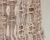 Handwoven cotton scarf OOAK