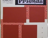 "12 x 12"" FRIENDS premade scrapbooking page"