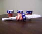Patriotic NAPKIN RINGS / napkin HOLDERS