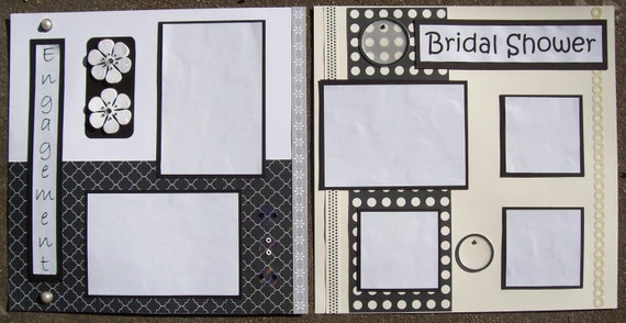 12 X 12 Premade WEDDING Scrapbook Album