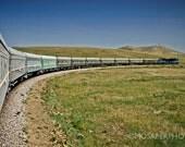 Train Travel Fine Art Photography Print Mongolia 12x18 20x30