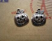 20pcs 26x15mm antique silver smile pumpkin fruit charms pendant R17139