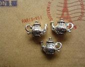 20pcs 17x13mm antique silver tea pot charms pendant B292
