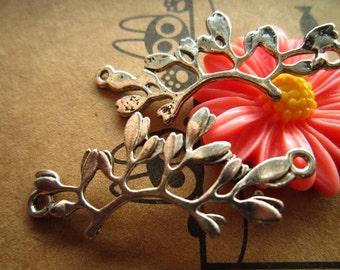 20pcs 38x16mm antique silver branch  leaf  charms pendant R23111-B12