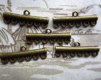 50pcs 25x6mm antique bronze charms pendant R21891