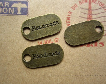20pcs 24x12mm antique bronze handmade letter charms pendant  R24020