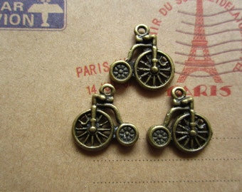 20pcs 18x17mm antique bronze  bicycle bike charms pendant C1378