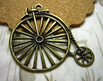 10pcs 52x46mm antique bronze  bicycle bike charms pendant R21179