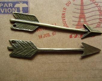 20pcs 64x11mm antique bronze arrow charms pendant C2168
