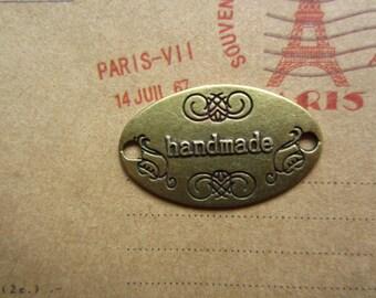 20pcs 32x19mm antique bronze handmade letter charms pendant R23778-C1792
