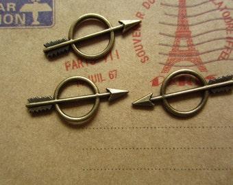 30pcs 28x12mm antique bronze arrow charms pendant c3080