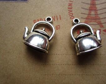 20pcs 19x17mm antique silver pot charms pendant R23724