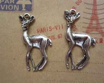 20pcs 34x17mm antique silver deer animal charms pendant R27289