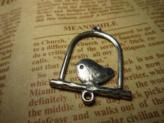20pcs 33x25mm antique silver birdcage charms pendant R19463