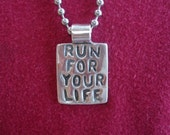 Runner Jewelry - Sterling Silver Pendant