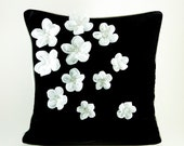 Flowers in the dark pillow cover