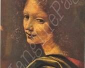 Vintage Book PLATE -Leonardo Da Vinci -Harvested Prints -Prints to Frame-Angel The Virgin of the Rocks- Paris