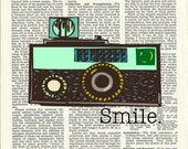 Dictionary Art Prints - Vintage Camera No.1 /  ALWAYS buy one get one free everyday.
