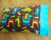 Free Shipping - Toddler/Travel Pillowcase - Dinosaur