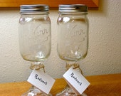 Redneck wine glass - Set of 2 Wine glasses with pint jars
