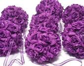 10 LARGE Silk Rose Wedding Flower Hanging Balls, Kissing Balls, Wedding Decorations, Bridesmaid Bouquet, Majesticsilkflowers on Etsy