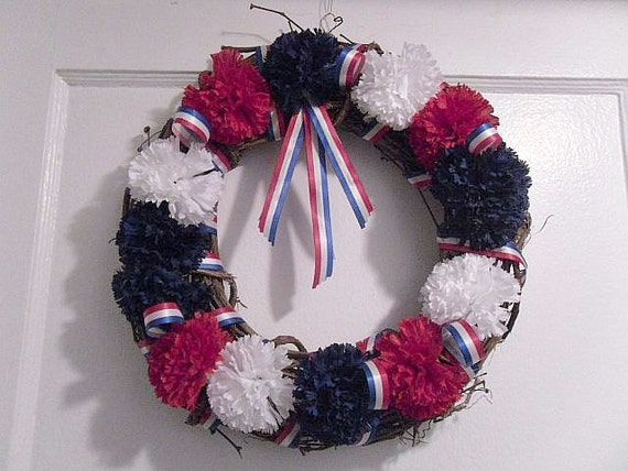 SALE - 4Th Of July Wreath // Patriotic Wreath // Soldiers Wreath //  Summer Wreath
