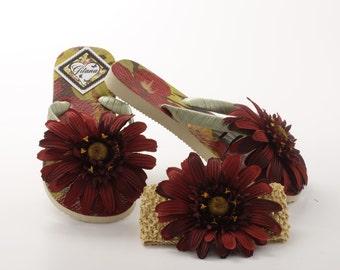 Women Flip Flops-tropical flip flops- decorated flip flops-women sandals