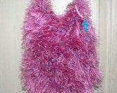 SALE - Fuchsia Crochet bag