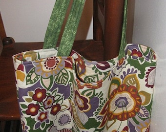 Tote, large tote, market bag, grocery tote, beach bag, library bag, green, workout bag