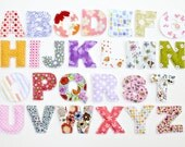 Plush Toy Alphabet Letters - Girl Fabrics