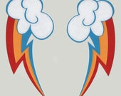 My Little Ponies Rainbow Dash Cutie Mark Decal Mirrored set