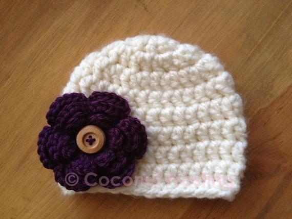 Crochet Hat Pattern For Chunky Yarn : Items similar to Crochet CHUNKY YARN beanie hat w/ 3-layer ...