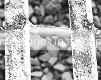 Letter H - Alphabet Photography Individual 4x6 Black and White Photo for Name Frames