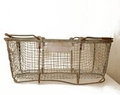 Wire Market Basket with Handles