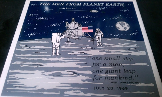 Commemorative Walk on the Moon Trivet Tile