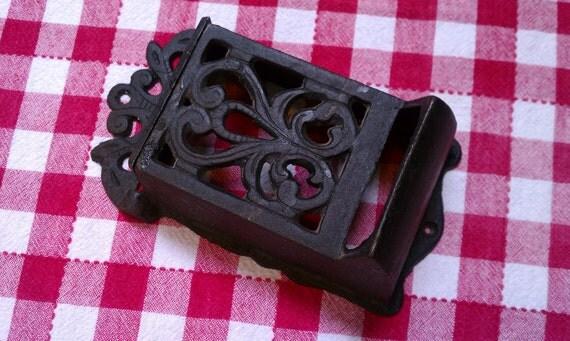Hanging Cast Iron Matchbox Holder