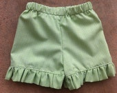 Ruffle Gingham Shorts