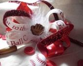 Cardinal Baseball Hairbow