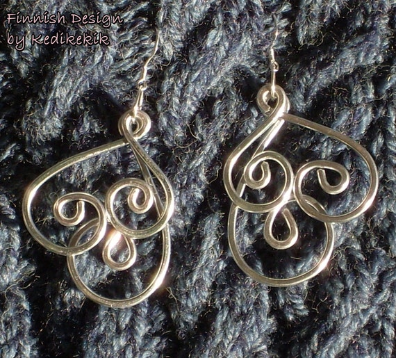 Silver HOOP Earrings made with Aluminum Wire and Silverplated Hooks - VERY Light to wear - Summer to your look