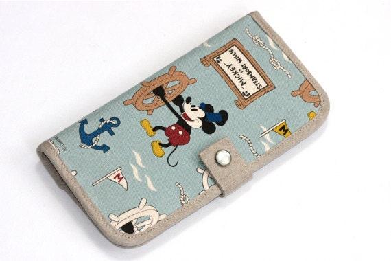 SALE Handmade bifold wallet -Micky