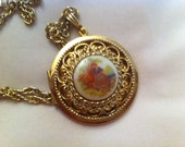 Vintage Gold Locket and chain