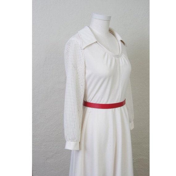 Vintage 70s Cream dress