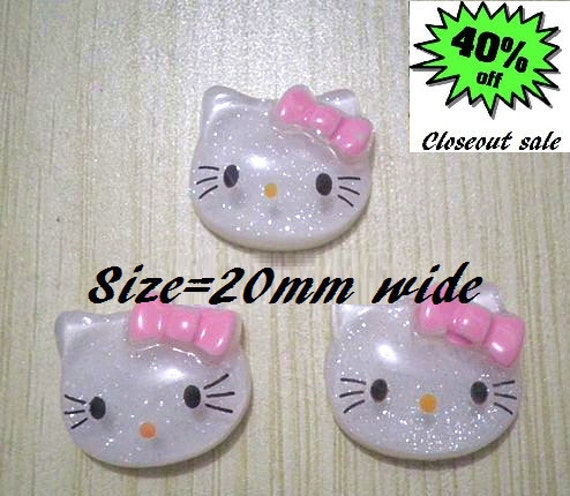 Cabochon Hello Kitty size 20mm wide 50 Pieces  LAST SET