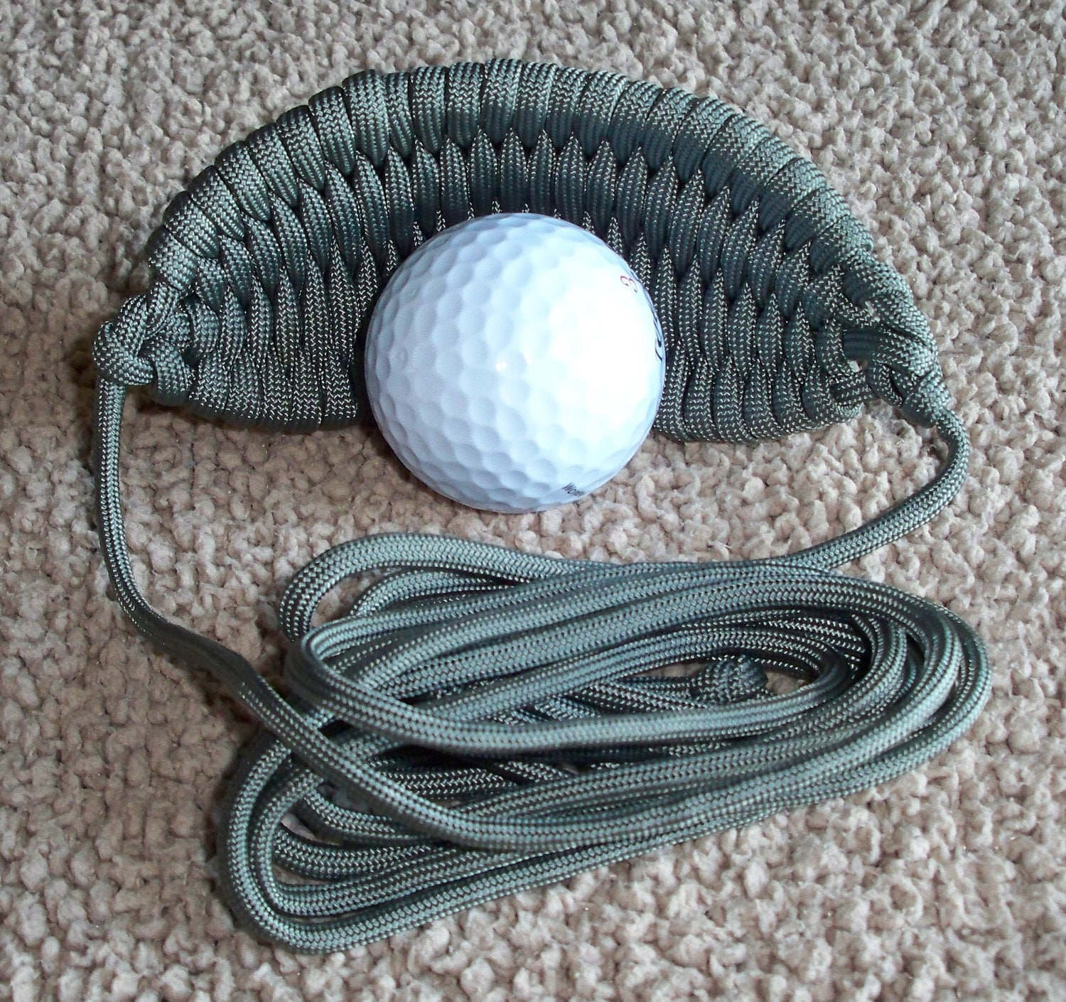 550 paracord golf ball sling by turtleboycreations on etsy for Paracord rock sling