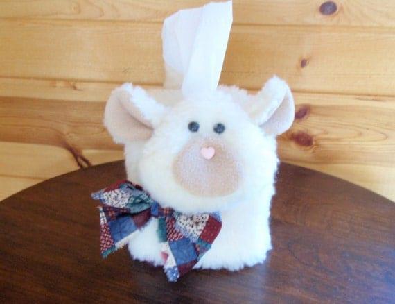 Tissue Box Cover - Sheep